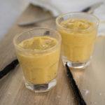 Vanilla custard in a glass
