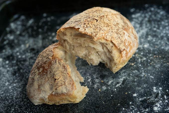 Ciabatta no knead