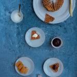 Oat waffles landscape