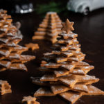 Gingerbread tree on a dark background